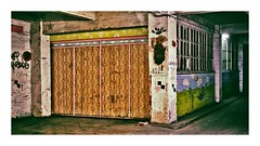 la porte de garage (Marie Hacene) Tags: lajarry vincennes garage porte tapisserie
