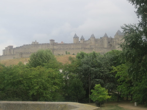Vista del castillo de Carcasona, Francia