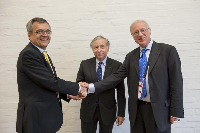 José Viegas, Jean Todt and José Luis Irigoyen at the road saefty agreement signing