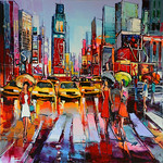 1676 - Ballade sur Broadway - 100x100