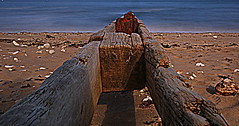Groyne (terry@sevensixty images) Tags: groyne seaside sea beach sand wood coast hdr weathered canoneos760 shanklin iow isleofwight