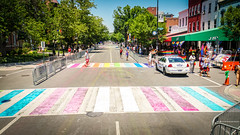 2017.06.10 Painting of #DCRainbowCrosswalks Washington, DC USA 6432