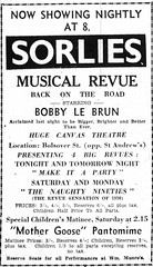 1950. Sorlies Musical Review. TMB June 15, p.2 (Love in a little black diary) Tags: rockhampton centralqueensland rockhamptonshow showtime rockhamptonagriculturalsociety rockhamptonshowsociety queensland theshow annualshow themorningbulletin