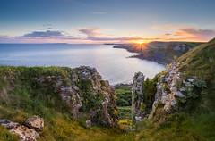 Emmetts hill - Dorset - Explored 23/5/17 (Christopher Pope Photography) Tags: jurassiccoast jurassic christopherpopephotography wwwchristopherpopephotographycom chrispope cliffs chapmanspool sony seascape stadhelmshead dorest sunset sea
