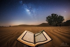 The Truth Shall set you free (samy olabi) Tags: ifttt 500px sky landscape sunset travel night stars evening sand dubai dawn long exposure desert dune milky way astrophotography abu dhabi milkyway photography nightscape no person tree islam quran