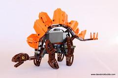 Walking Lego stegosaurus (dschlumpp) Tags: lego technic walking dinosaur stegosaurus