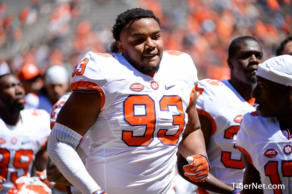 Clemson Photos: Sterling  Johnson, 2017, Football, orangeandwhitegame, springgame
