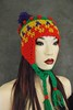Crochet Chullo style hat (UniquelyEwe) Tags: crochet freeform chullo red green earflaphat accessory women winter dashndazzle