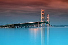 Mackinac Bridge at Dusk (dangaken) Tags: michigan midwest usa mi mich greatlakes greatlakesstate thirdcoast stateofmichigan summer summer2017 upnorth northernmichigan upperpeninsula upperpenninsula up lakehuron lakemichigan mackinac mackinaw i75 straitsofmackinac straits steignace stignace saintignace emmetcounty emmet steel usbridgeco usbridge interstate highway freeway bridge suspensionbridge mdot michigandepartmentoftransportation transit car transport nightphotography ndfilter neutraldensityfilter cpl circularpolarizingfilter longexposure night bluehour canon24105f4l canon canon7d 24105 f22 mackinacbridge mackinawbridge mackinawcity glap dgaken dangaken photobydangaken