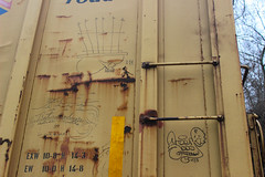 Retribalize, Iron Gates, Stoe (NJphotograffer) Tags: graffiti graff trackside railroad rail art freight train bench benching moniker hobo marker streaks box car boxcar retribalize stoe stoer cdc crew iron gates irongates
