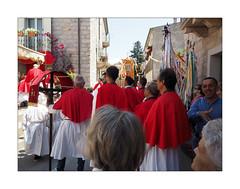 In red n. 5 (Franco & Lia (on/off)) Tags: street fotografiadistrada photographiederue luras sardegna sardinia processione corpusdomini procession red rouge rosso