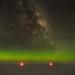 Aurora-Horizon-Glow and the Milky Way