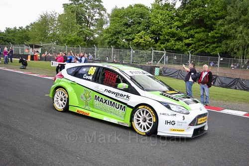 Josh Cook on the BTCC grid at Oulton Park, May 2017
