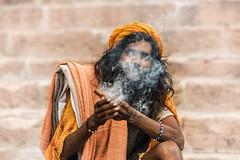 Pipe of Peace (Andrew G Robertson) Tags: ganges ganga varanasi india pipe smoke drugs street streetphotography cannabis hashish marijuana holy man baba sadhu