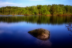 Solid As A Rock (Cederquist Christoffer) Tags: swedishnature nature longexposure clearwater reflection reflections lake lakescape woodland woodline woods summerglow beauty gothenburg hiking sweden cederquist sigmaart sigma1835f18 sigma1835 canoneos60d tripod 45sec ndfilter nd1000 10stops rock solidasarock rocksolid