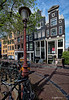 Amsterdam. (alamsterdam) Tags: amsterdam architecture lamppost houses picture brouwersgracht bikes housefronts shadows traffic sig trafficsign onlybikesallowed