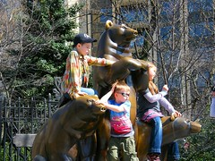 Fun in Central Park (Stanley Zimny (Thank You for 24 Million views)) Tags: kids children statue fun boys centralpark nyc newyork