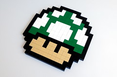 1 UP (Sylon-tw) Tags: sylon sylontw supermario super mario mushroom up pixel art pixelart bros nintendo lego extralife pilz moc