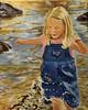 Kate Enjoying the Moment (GilmoPix) Tags: girl stream spring splashingwater