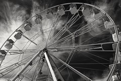 Ferris Wheel (velodenz) Tags: fujifilm x100f fujifilmx100f fujiusers velodenz england bristol harbourside united kingdom uk great britain gb digital image pic picture phot photo photograph photography monochrome black white flickr trending fair ferris wheel eye funfair fairground attraction outside views repostmyfuji repostmyfujifilm fuji 2000 2000views xseries