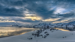 Colorful evening in East Greenland (Markus Trienke) Tags: grönland kulusuk kommuneqarfiksermersooq gl snow cold ice sunset landscape canon eos 5d mkiv travel mountain mountains sea fjord clouds greenland reflection colorful evening arctic north frozen