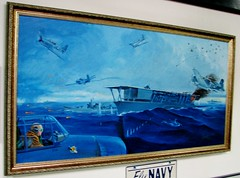 Attacking the Japanese fleet off Midway 1329 (Tangled Bank) Tags: valiant airbird command warbird museum titusville florida ww2 ww11 world war 2 two ii history historical military attacking japanese fleet off midway 1329 painting art classic heritage vintage