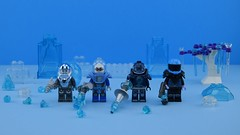 Who is the best one ? (Alex THELEGOFAN) Tags: lego legography minifigure minifigures minifig minifigurine minifigs minifigurines mr freeze snow ice cold white blue armor black victor fries dc comics super heroes villain