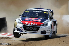Peugeot 208 4x4 T16 (21) (Timmy Hansen) (tbtstt) Tags: world rallycross championship round 4 mettet circuit jules tacheny belgium 2017 peugeot 208 4x4 t16 21 timmy hansen peugeothansen red bull wrx rx total sparco cooper tires fia