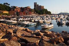 Cinque Terre time (good2go) Tags: sea italy europe liguria cinqueterre lerici boats castle town rocks