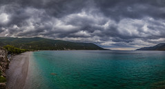 A dramatic afternoon by the sea (Vagelis Pikoulas) Tags: vertical shot panorama panoramic pano sea seascape landscape view sky clouds cloudy cloud porto germeno greece europe may spring 2017 canon 6d tokina 1628mm dramatic