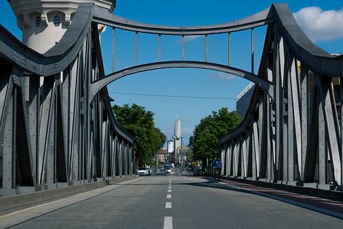 Brücke Bismarckstraße in Richtung Darmstadt Zentrum
