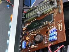 Inside the Brother 512SR Calculator (anachrocomputer) Tags: dmcg7 1235mm f28 brother calculator pcb ic vfd
