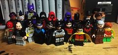 The Bat-Family (LordAllo) Tags: lego dc batman family huntress bluebird batmite azrael spoiler black bat harvey bullock renee montoya red hood alfred pennyworth batgirl nightwing catwoman robin batwoman commissioner gordon carrie kelley