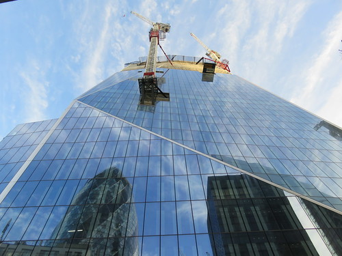 UK - London - City of London - Leadenhall Street - Skyscraper under construction