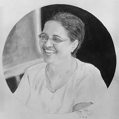 Portrait drawing. Instagram: hamza_mad.h (hamzazain) Tags: blackandwhite old pencilsketch sketch portrait artist srilanka