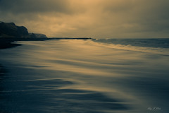 Silky Wave (Ping...) Tags: vik iceland blacksand volcanic seascape light golden dramatic sky moody beach