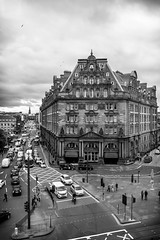 B&W Caledonian in Edinburgh (ola_er) Tags: edinburgh caledonian hotel west end bw centre street architecture building
