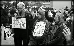 Pussy Power (* RICHARD M (Over 6 million views)) Tags: street candid mono blackwhite protests protesters demo demonstrators demonstrations antitrump womensrights signs feminism feminists crowds stgeorgeshall stgeorgesplateau liverpool merseyside merseysiders liverpudlians scousers pussypower solidarity expressions girlpower omg neartheknuckle liverpoollasses limestreet europeancapitalofculture capitalofculture crowd women