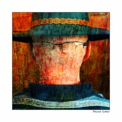 Faceless Portrait (paulinecurrey) Tags: facelessportrait smileonsaturday hat glasses textures ears head portrait colourful art creative
