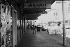 Wish (Swebbatron) Tags: australia adelaide southaustralia city street road pedestrian fuji radlab blackandwhite mono grain sidewalk travel 2008