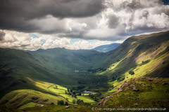 Boredale Valley from Hallin Fell, Ullswater (Explored) (Splendid What) Tags: 2017 boredalevalley clouds cumbria fells hallinfell howtown june lakedistrict landscape martindale sky sunlight ullswater valleys walk