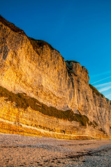 Strata (Tony Shertila) Tags: 20170420184238 fécamp normandie france europe normandy beach coast cliff chalk outdoor sunset goldentime fra