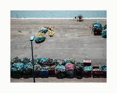 Untitled (hélène chantemerle) Tags: granville manche normandie port quai casiers filets extérieur soleil outdoor sea sun docks nets blue