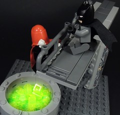 The Chemical Plant Incident (MrKjito) Tags: lego minifig super hero comic comics dc red hood batman ace chemical plant joker birth gotham city villain saving