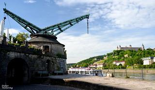 Alter Kranen u. Festung Marienberg