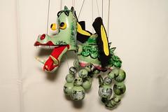 mother dragon 1971 - 1986 (Margaret Stranks) Tags: pelhampuppet handmade marlborough wiltshire uk marionette stringpuppet motherdragon wings scales