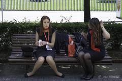 Descanso merecido-Ferroforma 2017 Bilbao (mercenario.one) Tags: ferroforma bilbao feria metal modelo belleza azafata moda
