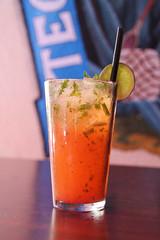 Strawberry Mojito (sarahstierch) Tags: cocktail cocktails beverage drinking lacasarestaurant bar booze strawberry mojito mexican mexicanrestaurant sonoma california