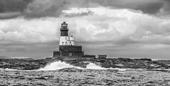 Longstone Lighthouse (LindaShaws Images) Tags: longstonerock longstonelighthouse northumberland seahouses sea seal waves water clouds automated1990 1826 active josephnelson outerfarnelighthouse 1838wreck forfarshire gracedarling