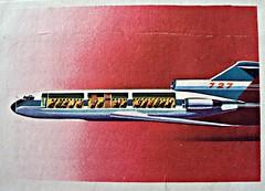 Boeing 727 (Sallanches 1964) Tags: picturealbum racetothesun 1960s chocolatejacques airplane rocketry rocketman passengers